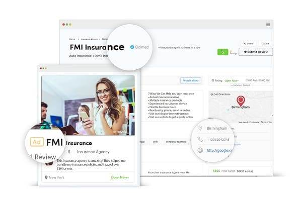 claim promote convert your listing with insurance agent near me